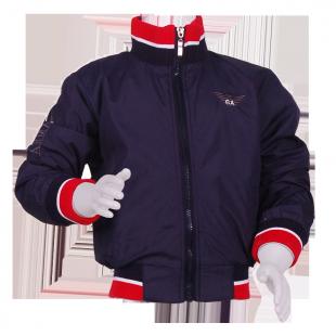 Фото: Куртка на молнии с манжетами (артикул O 10123-deep blue) - изображение 2