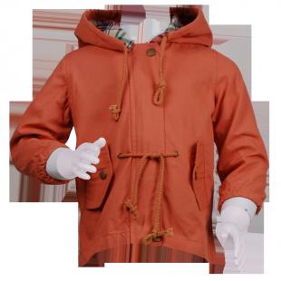. Куртка-парка с капюшоном на осень
