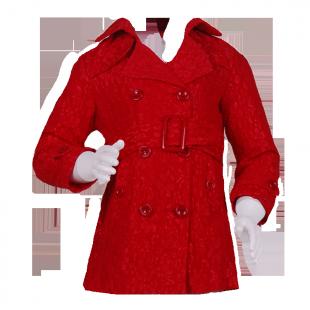 Фото: Плащ гипюровый красного цвета (артикул O 10137-red) - изображение 2