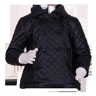 Стёганное пальто трапециевидной формы