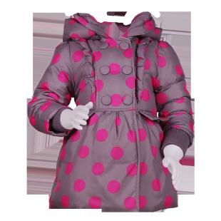 Детское пальто зимнее с капюшоном