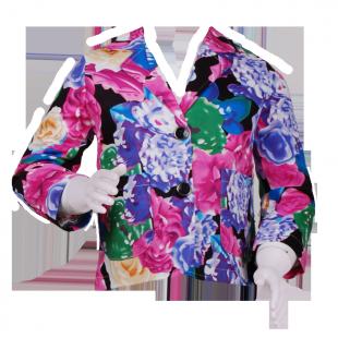 Пиджак с цветочным рисунком