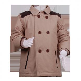 Пальто с кожаными погонами