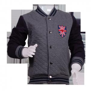 Куртка-бомбер стеганная серая