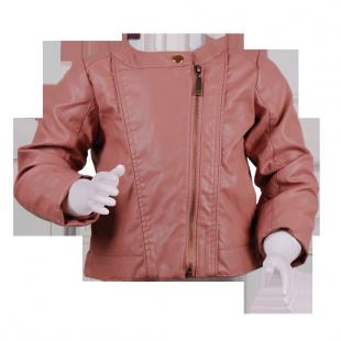 Кожаная куртка светло-розового цвета