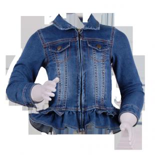 Детская джинсовая курточка с рюшами