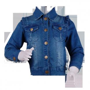 Куртка для девочки с рюшами на плечах