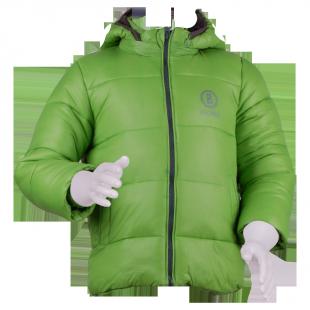 Куртка дутая  зеленого цвета