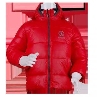 Демисезонная курточка красного цвета