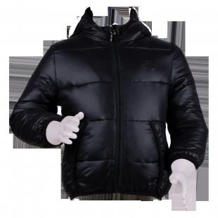 . Benetton. Куртка дутая с капюшоном черного цвета