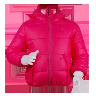 Benetton. Малиновая курточка с капюшоном