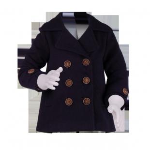 Детское пальто темно-синего цвета