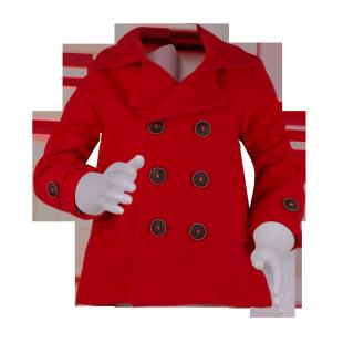 Яркое пальто для девочки