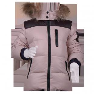 Зимняя куртка бежевого цвета