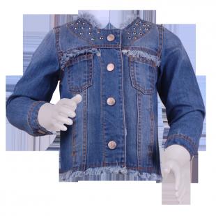 . Джинсовая куртка для девочки