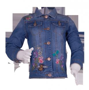 . Джинсовая детская курточка с вышивкой