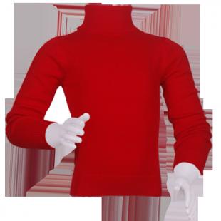 Водолазка детская красного цвета