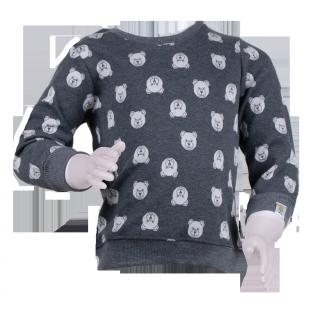 Детский свитер серого цвета