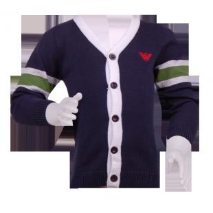 Детский кардиган Armani  темно-синего цвета