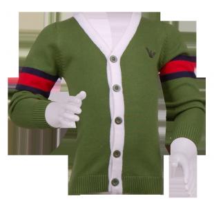 Фото: Кофта на пуговицах Armani  зеленого цвета (артикул O 20133-green) - изображение 2