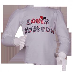 . Louis Vuitton*. Белая фирменная кофточка девочке