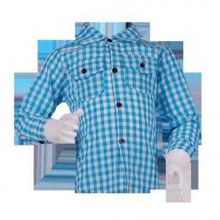 . Рубашка  в клетку голубого цвета