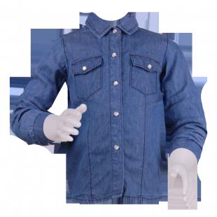 . Джинсовая детская рубашка