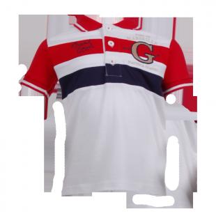 Minoti. Футболка поло с полосами красного цвета