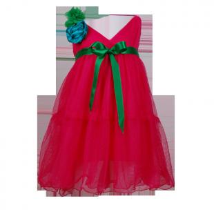 Платье с бантом на плече