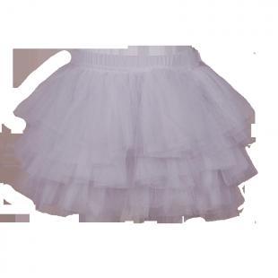 Фатиновая юбка-пачка белого цвета