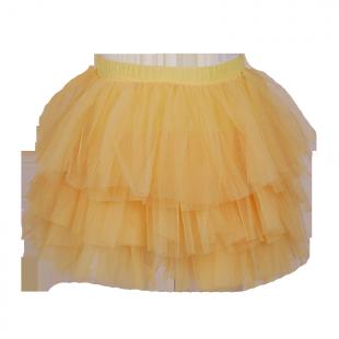Жёлтая юбка-пачка из фатина