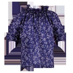 . Темно-синяя туничка в цветочек