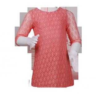 Фото: Платье с ажурной вязкой (артикул O 50193-apricot) - изображение 2