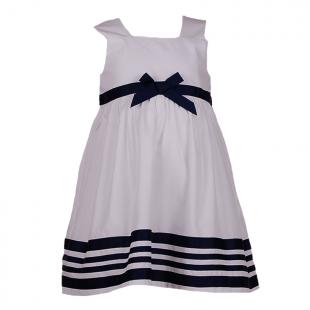 Платье с полосами на кромке