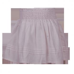 Светлая льняная юбка для девочки
