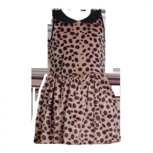 Mini Boden. Платье леопардовое с воротником