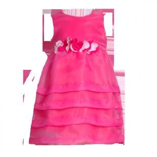Платье с цветами на поясе