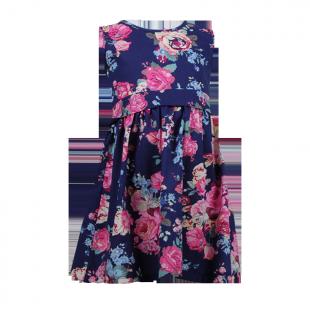 Платье с поясом на талии