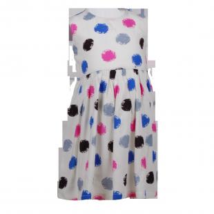 Платье в яркий горошек