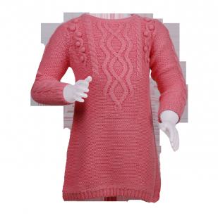 F&F. Платье вязаное кораллового цвета