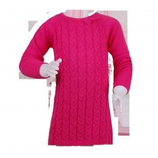Minoti. Платье вязаное розового цвета