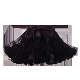 Стильная юбка-облако для девочки черного цвета