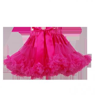 Детская юбка-облако малинового цвета
