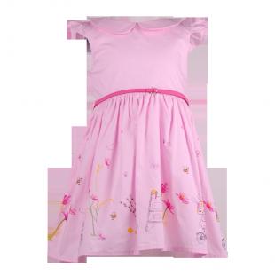 . Розовое платье для девочки на лето