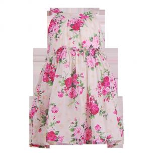 . Летнее платье для девочки с цветочным принтом
