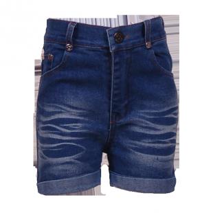 Шорты джинсовые с завышенной талией
