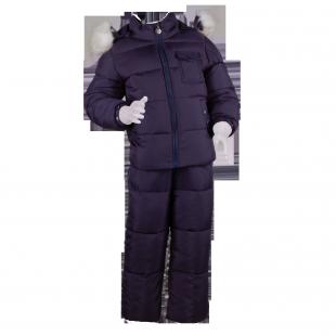 . Детский зимний костюм с белым мехом
