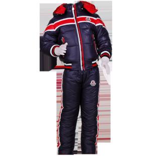 . Зимний утепленный костюм с красными полосами