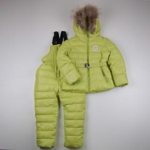 Фото: Зимний костюм Богнер для девочки (артикул O 70051-light green) - изображение 3