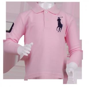 Фото: Розовая брендовая кофточка Polo  (артикул RL 30001-light pink) - изображение 2